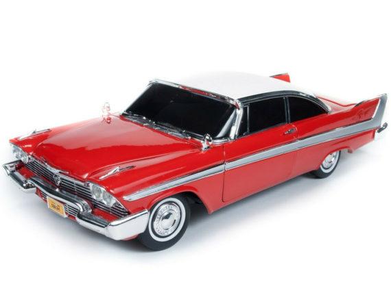 Autoworld Awss102 Christine 1958 Plymouth Fury 1:18 Night Version Red