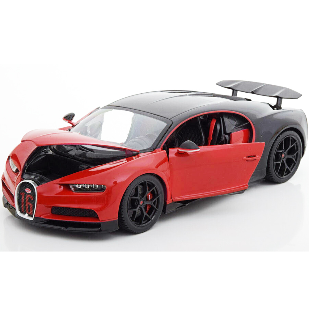 Bugatti Chiron Sport: Bburago 18-11044 Bugatti Chiron Sport #16 1:18 Red Black