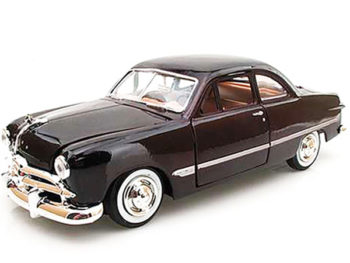 Motormax 73213 1949 Ford Coupe 1:24 Burgundy