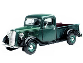 Motormax 73233 1937 Ford Pick Up Truck 1:24 Green