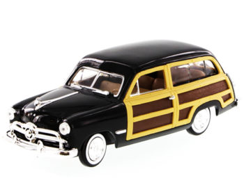 Motormax 73260 1949 Ford Woody Wagon 1:24 Black
