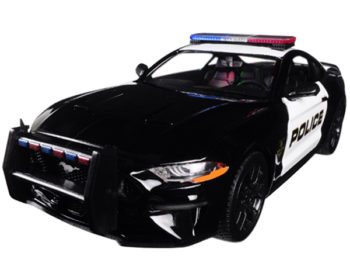 Motormax 76968 2018 Ford Mustang GT 5.0 1:24 Police Car Black White