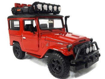 Motormax 79137 4x4 Overlanders Toyota FJ 40 Land Cruiser 1:24 Red