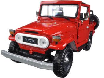 Motormax 79330 Toyota FJ 40 Convertible 1:24 Red