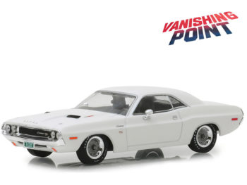 Greenlight 86545 Vanishing Point 1970 Dodge Challenger R/T 1:43 White