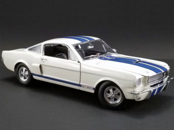 Acme A1801833 1966 Shelby GT 350 Supercharged 1:18 White with Blue Stripes