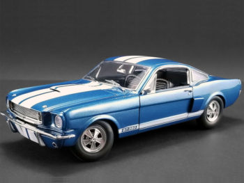 Acme A1801834 1966 Shelby GT 350 Supercharged 1:18 Blue with White Stripes