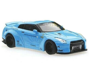 Mini GT MGT00004 Liberty Walk LB Works Nismo Nissan Skline GT-R R35 1:64 Light Blue