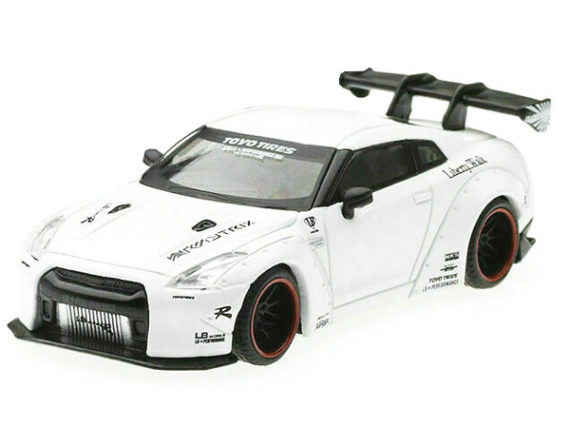 Mini GT MGT00009 Liberty Walk LB Works Nosmo Nissan Skline GT-R R35 1:64 Matte White