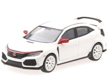 Mini GT MGT00010 2017 Honda Civic Type R FK8 LHD Modulo Edition 1:64 White