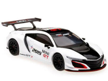 Mini GT MGT00027 Toy Fair 2019 Exclusive Acura NSX GT3 1:64 White / Black