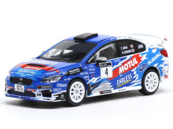 Tarmac Works T64-016-JRC Subaru WRX STi All Japan Rally Championship 2016 1:64 Blue