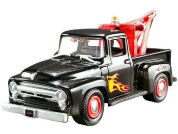 Acme 51248 Stacey David's 1956 Ford F-100 Wrecker Tow Truck 1:64 Black