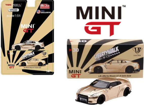 Mini Gt MGT00030 Liberty Walk LB Works Nissan Skyline GT-R 1:64 Satin Gold