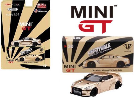 Mini Gt MGT00030 Liberty Walk LB Works Nissan Skyline GT-R 1:64 Satin Gold