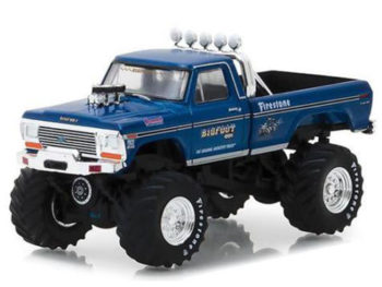 Greenlight 29934 Bigfoot #1 Monster Truck 1974 Ford F-250 Pick Up 1:64 Blue