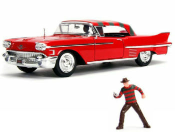 Jada 31102 Nightmare On ELM Street 1958 Cadillac Series 62 1:24 with Freddy Krueger Figure