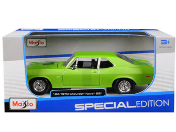 Maisto 31262 Special Edition 1970 Chevrolet Nova SS Coupe 1:24 Green