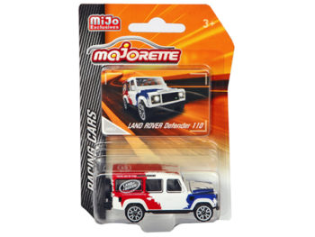 Majorette 4009 MJ1 Racing Cars Land Rover Defender 110 1:64 Red/ White /Blue
