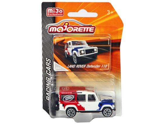 Majorette 4009 MJ1 Racing Cars Land Rover Defender 110 1:64 Red/ White /Blue