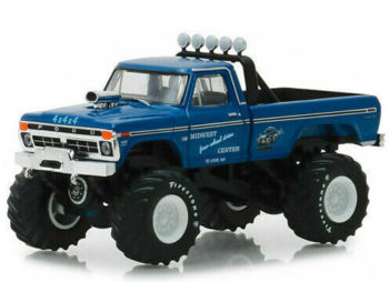 Greenlight 49030 A Bigfoot Monster Truck 1974 Ford F-250 Pick Up 1:64 Midwest Blue