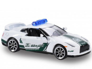 Majorette 7181 MJT Dubai Police Super Car Nissan Skyline GT-R R35 1:64 White