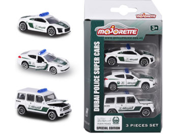 Majorette 7264047 Dubai Police 1:64 Audi Porsche Mercedes Benz 3-Pack Assortment