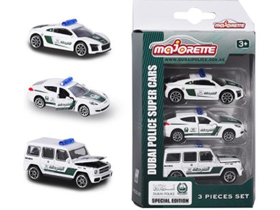 Majorette 7264047 Dubai Police 1:64 Audi Porsche Mercedes Benz 3-Pack Assortment