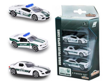 Majorette 7264047 Dubai Police 1:64 Lamborghini Mercedes Benz Chevy 3-Pack Assortment
