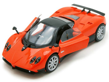 Motormax 73369 Pagani Zonda F 1:24 with Silver Wheels Orange