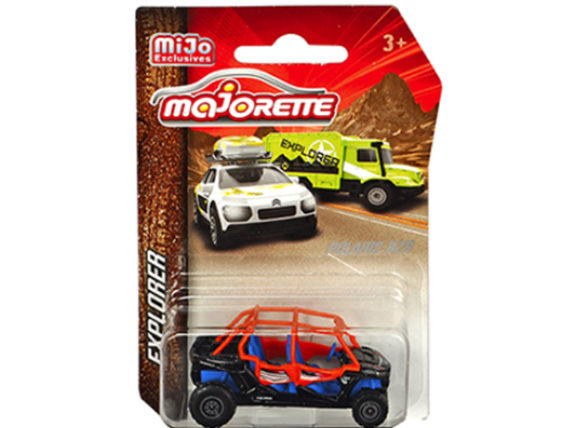 Majorette 7601 MJT Explorer Polaris RZR 1:64 Black