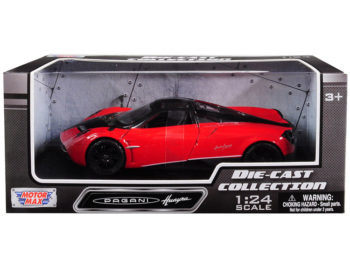 Motormax 79312 Pagani Huayra 1:24 with Black Wheels Red