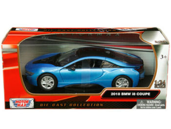 Motormax 79359 2018 Bmw i8 Coupe 1:24 Blue