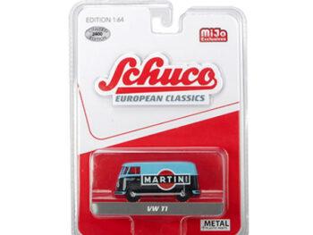 Schuco 8300 European Classics Volkswagen T1 Panel Van Martini Racing 1:64 Blue