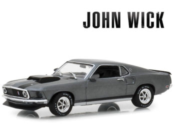 Greenlight 86540 Hollywood John Wick 1969 Ford Mustang Boss 429 1:43 Grey with Black Stripes