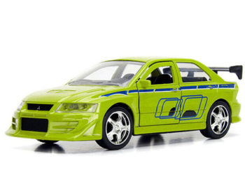 Jada 99789 Fast & Furious Brian's Mitsubishi Lancer Evolution VII 1:32 Green