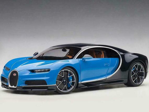 AUTOart 70993 2017 Bugatti Chiron 1:18 French Racing Blue / Atlantic Blue