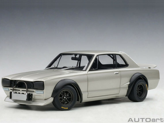 AUTOart 87277 Nissan Skyline GT-R KPGC-10 Racing 1972 1:18 Silver
