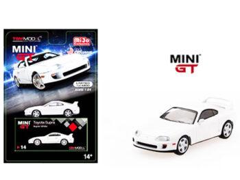 Mini GT MGT00014 Toyota Supra (JZA80) Left hand Drive 1:64 White