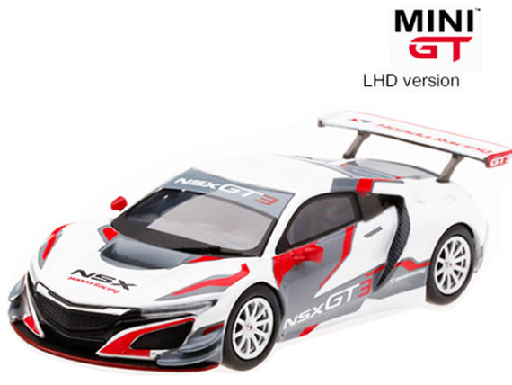 Mini GT MGT00036 Japan Exclusive Honda NSX Tokyo Auto Salon 2018 1:64 White