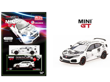 Mini GT MGT00037 Honda Civic Type R (FK8) ArtCar Manga 2018 Paris Auto Show 1:64 White