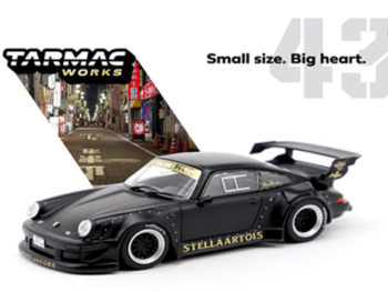 Tarmac T43-013-MB Porsche RWB 930 Stella Artois Black Limited Edition 1:43 Matte Black