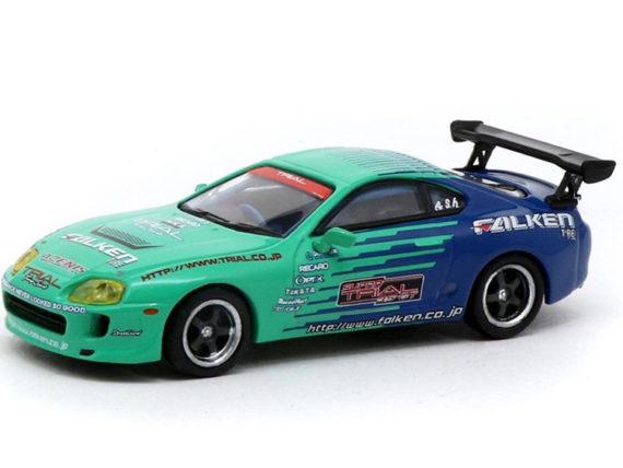 Tarmac Works T64-011-FAL Toyota Supra Falken Tires 1:64 Green