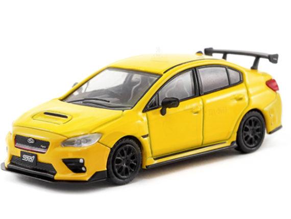 Tarmac Works T64-016-YL Subaru WRX STI S207 NBR Package 1:64 Sunrise Yellow