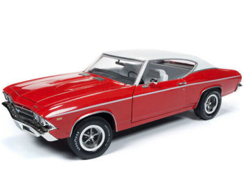 Autoworld Amm1169 1969 Chevrolet Chevelle Copo 427 1:18 Monza Red with White Top