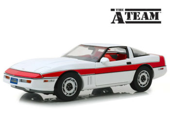 Greenlight 13532 Hollywood The A Team 1984 Chevrolet Corvette C4 1:18 White Red
