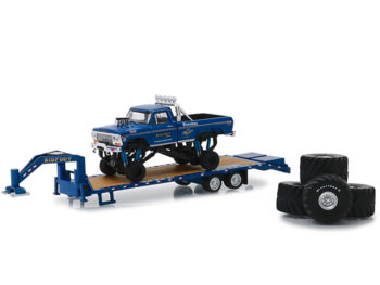 Greenlight 30054 Bigfoot Monster Truck 1974 Ford F-250 1:64 with Gooseneck Trailer & Tires
