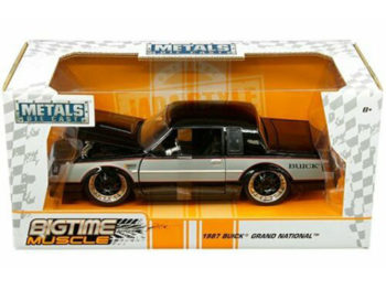 Jada 30528 Bigtime Muscle 1987 Buick Grand National 1:24 2-Tone Black Silver