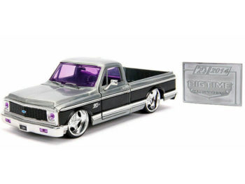 Jada 31074 20th Anniversary Bigtime Kustoms 1972 Chevrolet Cheyenne Pick Up Truck 1:24 Raw Metal