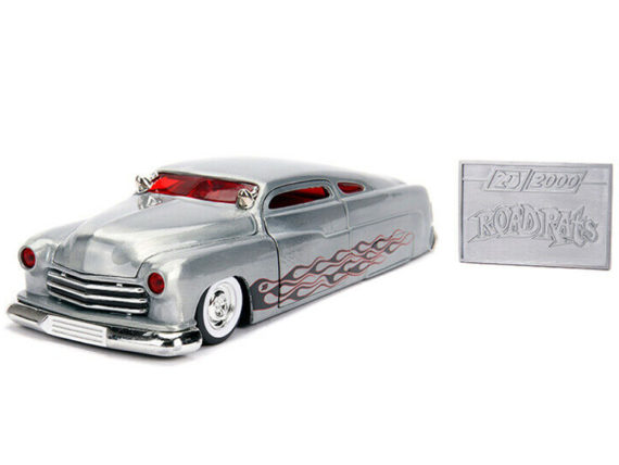 Jada 31080 20th Anniversary Road Rats 1951 Mercury with Flames 1:24 Raw Metal